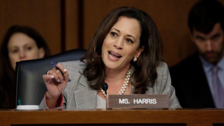 Senator Kamala Harris announce her presidential ambitions 2020.