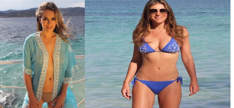 American Model and  Actress Elizabeth Hurley Post Bikini Photo on her Instagram.